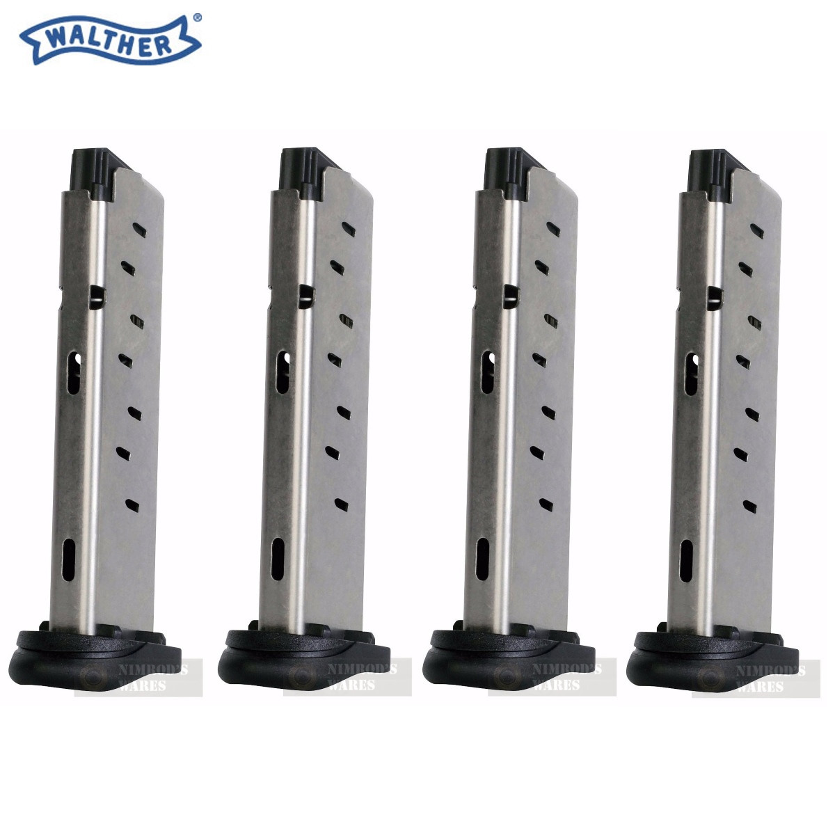 4 Pack Walther Pk380 380acp 8 Round Steel Magazine 505600