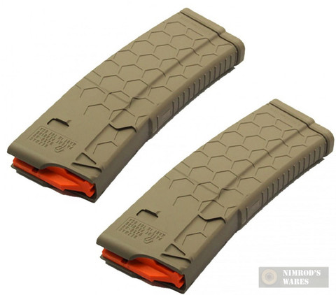"HexMag AR-15 ""Series 2"" .223 5.56 10 Round Magazine 2-PACK HX1030-AR15S2-FDE"