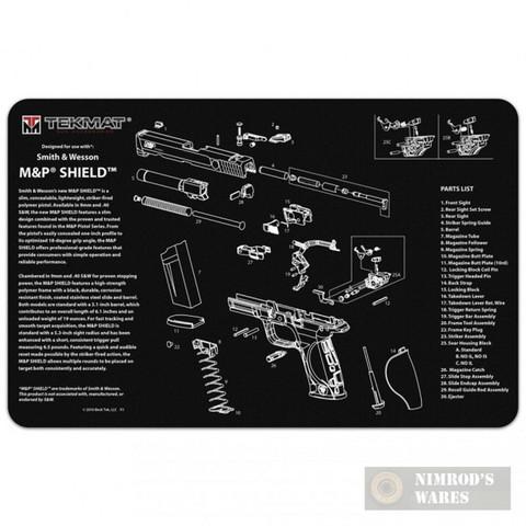 """TekMat S&W M&P Shield Armorer Bench MAT 11""""x17"""" 17-MP-SHIELD"""