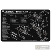 """TekMat RUGER LC9 LC380 Armorer Bench MAT 11""""x17"""" 17-RUGER-LC9"""