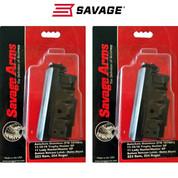 SAVAGE AXIS .223 4 Round Steel Magazine 55230 2-PACK