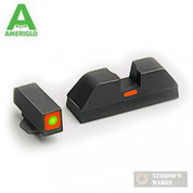 AmeriGlo Combat CAP Sights SET GLOCKS Tritium Front / Bar Rear GL-616