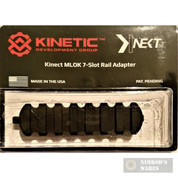 KINETIC Double 7-Slot Easy Detach MLOK Rail Section KIN5-200