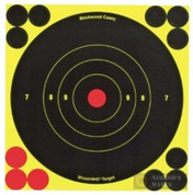 "BIRCHWOOD Shoot-N-C BullsEye TARGET 6"" 10-pk 120 Pasters 34511"