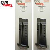Promag Smith & Wesson S&W M&P Shield 9mm 7 Round Magazine 2-PACK SMI26