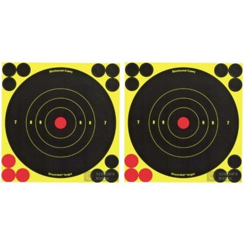 "BIRCHWOOD Shoot-N-C BullsEye TARGET 6"" 20-pk 240 Pasters 34511"
