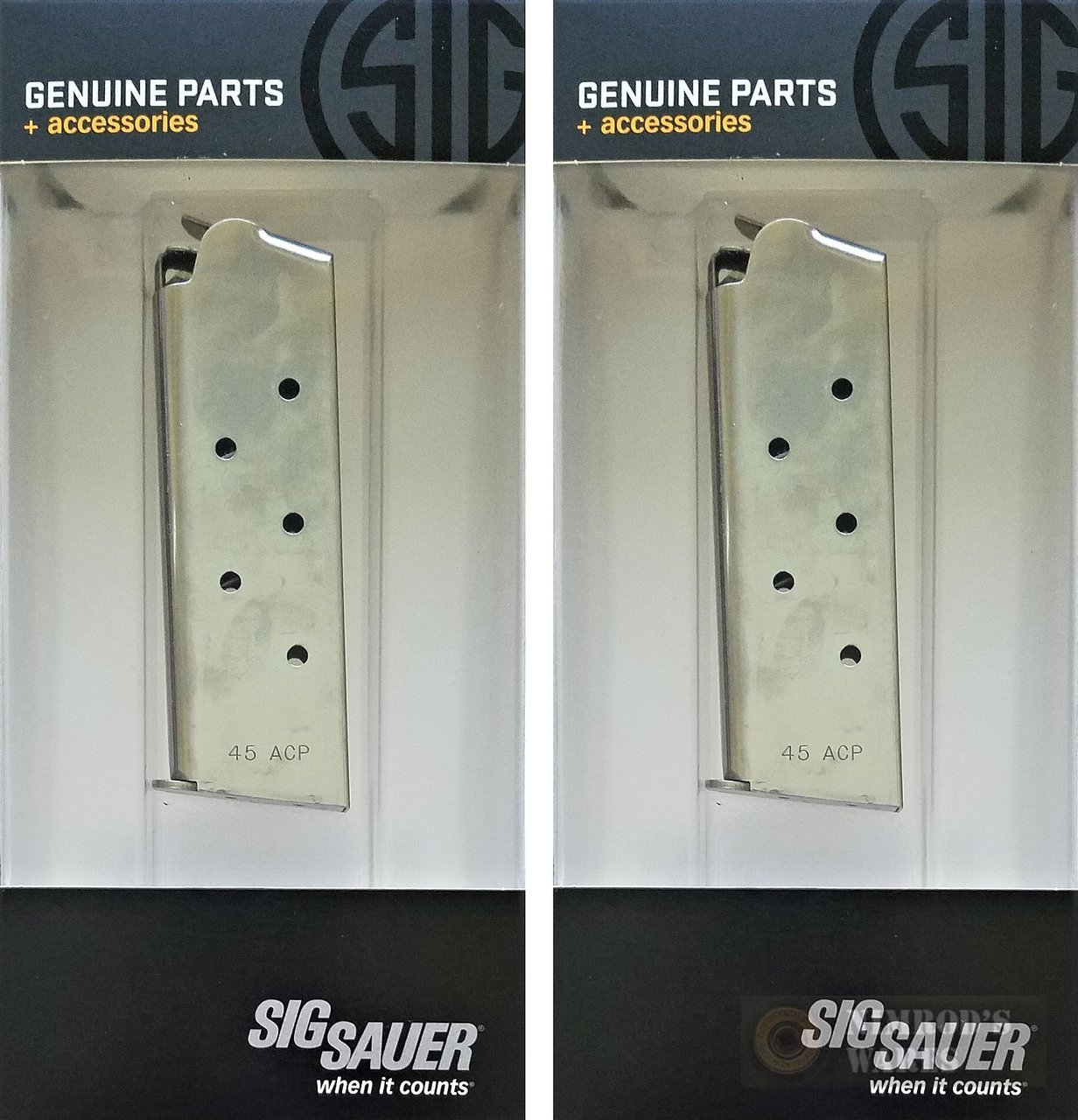 SIG Factory 1911 Compact Ultra  45ACP 7 Round Magazine 2-PACK MAG-1911-45-7