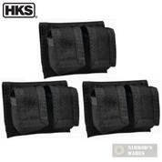 HKS 100B Universal Speedloader POUCH Cordura BLACK 3-PACK