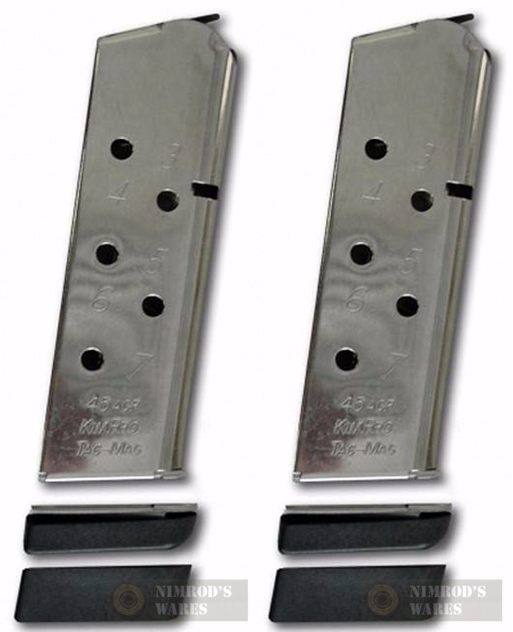 KIMBER KimPro 1911 Compact 45ACP 7 Round Magazine 2-PACK 1100813A