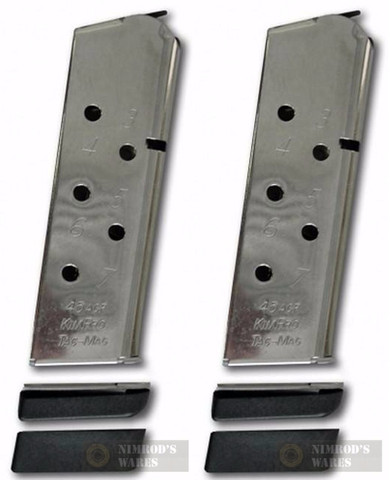 KIMBER 1100813A KimPro Tac-Mag Compact 45ACP 7Rd Magazine 2-PACK