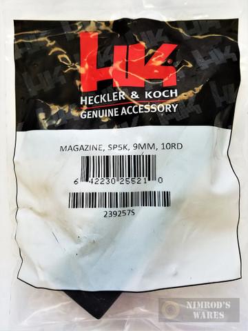 H&K Heckler & Koch SP5K 9mm 10 Round MAGAZINE 239257S