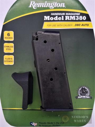 REMINGTON RM380 .380 ACP 6 Round Magazine w/ Extension 17679