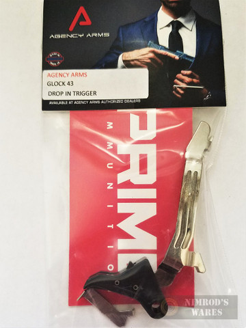AGENCY ARMS Drop-In Flat Trigger for GLOCK 43 G43 DIT-43-B
