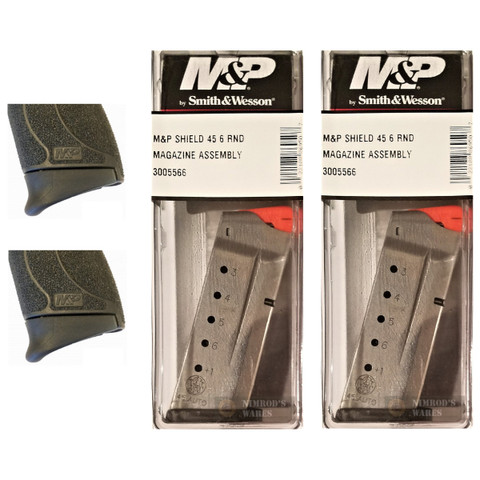2-PACK S&W SHIELD 45ACP 6 Rd Mags + Pearce Grip Extensions 3005566 PG-MPS45