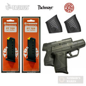 TAURUS PT-709 KIT 2-PACK: Magazines + Grip Sleeves + Grip Extensions 5-10709 05179 PG-709