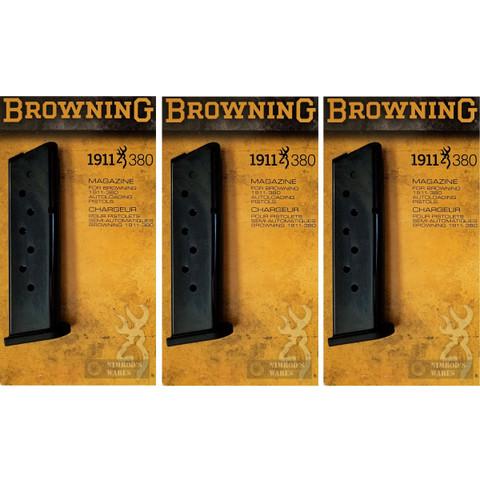 BROWNING 1911-380 .380ACP 8 Round Steel MAGAZINE 3-PACK OEM 112055192