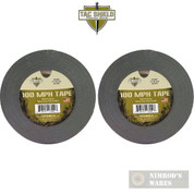 TAC SHIELD 100MPH Heavy Duty TACTICAL TAPE 60yds BLACK 03982 2-PACK