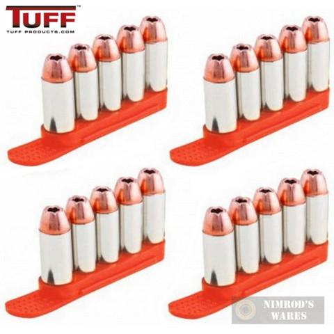 TUFF 7002OR5357 QuickStrips 5Rd .357 .38 .40S&W 6.8mm ORANGE 4Pk Reloader