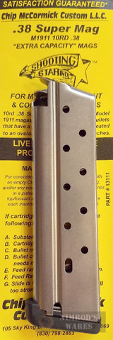 Chip McCormick 1911 XP .38 SUPER 10 Round Magazine