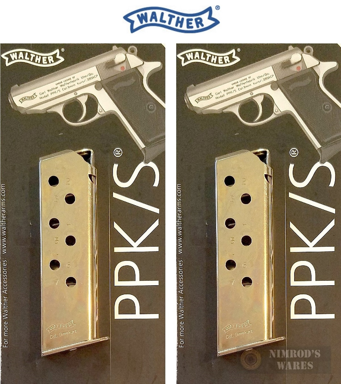 WALTHER ARMS 2246012 PPK//S 380 ACP 7 RD NICKEL FINISH