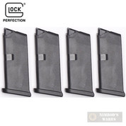 GLOCK 43 G43 9mm 6 Round MAGAZINE 4-PACK Bulk Packaging 43106