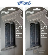 WALTHER PPS 9mm 6 Round MAGAZINE 2-PACK 2796562