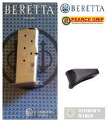 Beretta BU9 Nano 9mm 6 Round SS Magazine + Grip Extension JM6NANO9 PG-NANO