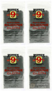 Hoppe's 1218 Silicone Gun & Reel Cloth 4-PACK: Polish/Coat/Protect