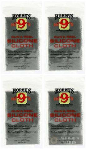 Hoppe's 1218 Silicone Gun & Reel Cloth 4-PACK: Polish/Coat/Protect