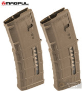 MAGPUL PMAG 30 AR/M4 Gen M3 5.56X45mm MAGAZINE 2-PACK (Window) Medium Coyote Tan MAG556-MCT