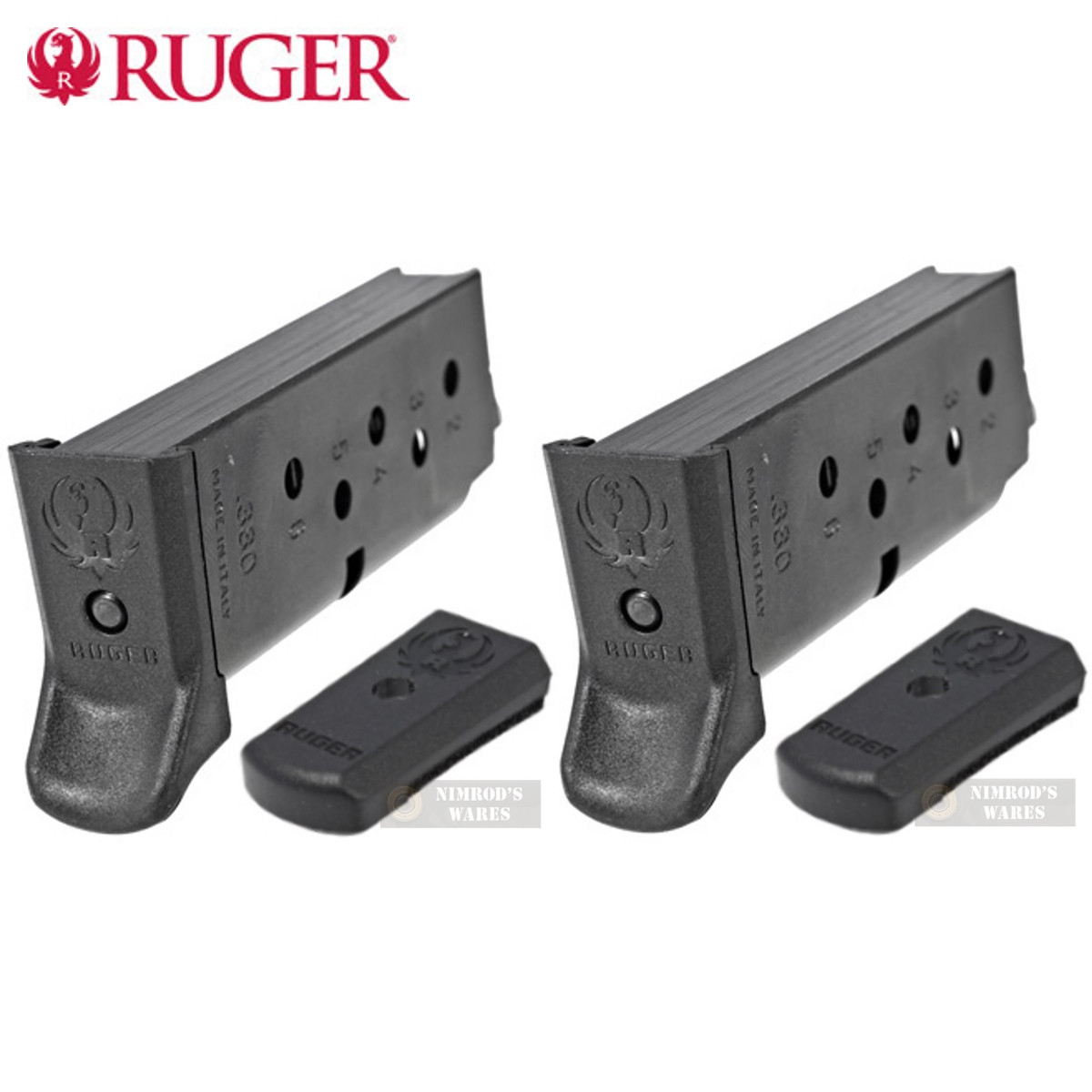 RUGER LCP II  380 ACP 6 Round MAGAZINE 2-PACK 90621