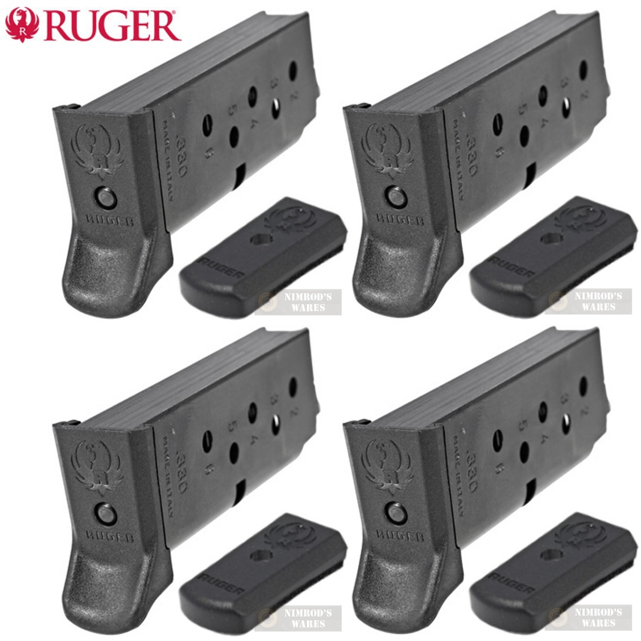 RUGER LCP II  380 ACP 6 Round MAGAZINE 4-PACK 90621