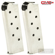 Chip McCormick 14120 Match Grade 7 Round 45ACP Officer MAGAZINE 2-PACK