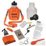 NDur 46oz Canteen w/Water Filter + SURVIVAL KIT Orange 52067