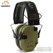 Walker's RAZOR Slim Ear Muffs PATRIOT 2X Flag Patches GWP-RSEMPAT-ODG