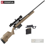 MAGPUL HUNTER 700L Remington 700 Long Action STOCK + Magazine Well + Magazine MAG483-FDE MAG489-BLK