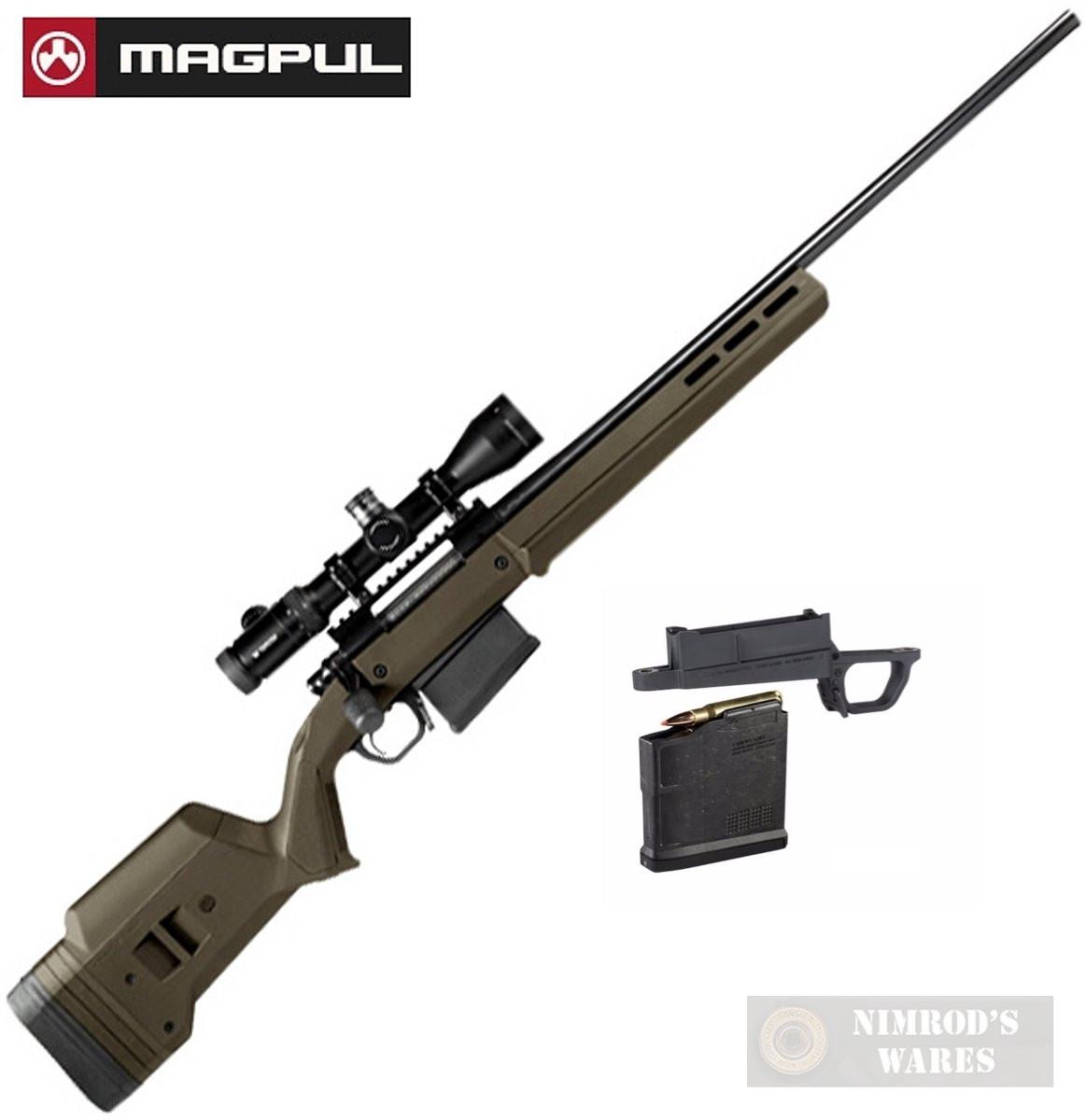 MAGPUL HUNTER 700L Remington 700 Long Action STOCK + Magazine Well +  Magazine MAG483-ODG MAG489-BLK