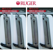 RUGER MK IV Mark IV 22/45 & LITE 10 Round .22 LR MAGAZINE 4-PACK Nickel 90599