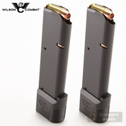 WILSON 1911 .45 ACP 10 Round MAGAZINE 2-PACK Gov't Extended PAD 47-45FS10B