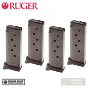 Ruger LCP™ .380 Magazine 4-PACK 6 Round w/ Extended Floorplates 90333