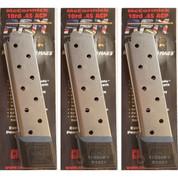 Chip McCormick 1911 RAILED Power Mag .45ACP 10 Round MAGAZINE 3-PACK 17150
