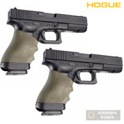 HOGUE 17001 Universal Full-Size Pistol Grip Sleeve OD Green 2-PACK