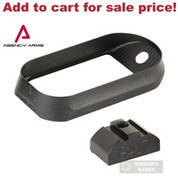 AGENCY ARMS Gen4 Glock 17 Magwell No Back Strap MW-G17G4-NBS-B - Add to cart for sale price!