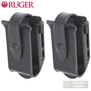 RUGER 10/22 TWO x BX-Magazines POUCH 2-PACK w/ BELT CLIPS 90437