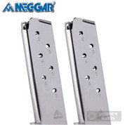 Mec-Gar 1911 Government .45ACP 7 Round MAGAZINE 2-PACK Nickel MGCG4507N