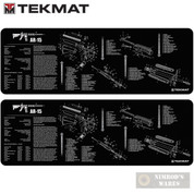 TekMat Gunsmithing Bench MAT 2-PACK 12x36 w/ .223 Rifle Diagram 36AR15BK