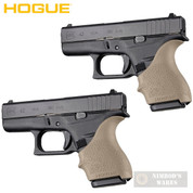 HOGUE GLOCK 42 43 G42 G43 + MORE! GRIP SLEEVE 2-PACK FDE 18203