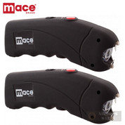 Mace STUN GUN 2-PACK 2.4 million VOLTS + LED Light + CASE 80323 80813