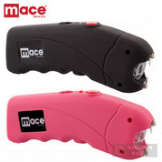 Mace STUN GUN 2-PACK 2.4 million VOLTS + LED Light + CASES BLACK + PINK 80323 / 80813 + 80324 / 80814