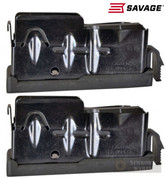 SAVAGE Axis .243 .308 7mm-08 6.5 .260 4 Round MAGAZINE 2-PACK 55232